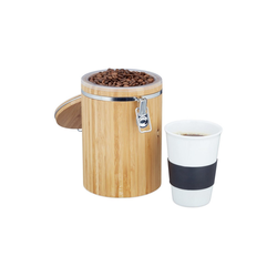 relaxdays Kaffeedose Kaffeedose Bambus, Bambus