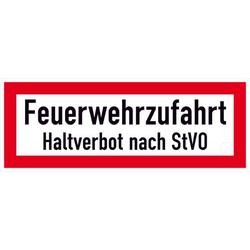 Hinweisschild Feuerwehrzufahrt Haltverbot nach StVO Aluminium (B x H) 594mm x 210mm 1St.