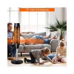 COSTWAY Heizlüfter Heizlüfter, Elektroheizung Heizgerät / 8H Timer / 10-49℃ / 40° Oszillation / 1200W/2000W / Fernbedienung/LED / 28x28x85cm