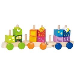 Hape Spielzeug-Eisenbahn, (Set, 17-tlg), mit Fantasiebausteinen