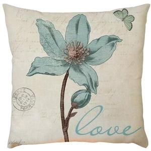 Xmiral Kissenbezüge Home Decor Kopfkissenbezug Hellblau Blume Drucken Vorzüglich Kissenhüllen(C)