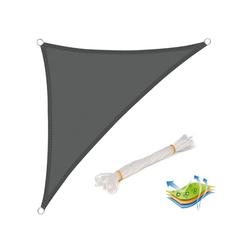 Woltu Sonnensegel, wasserabweisend Sonnenschutz,Polyester grau 250 cm x 350 cm x 250 cm