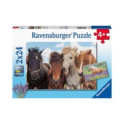 Ravensburger Puzzle Puzzle Pferdeliebe, 2x20/2x24 Teile, Puzzleteile