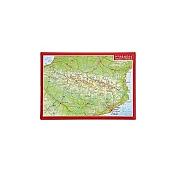 Reliefpostkarte Pyrenäen; Pirineos / Pirineus