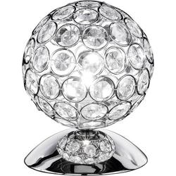 WOFI Holly 8568.01.01.0130 Tischlampe Halogen G9 33W Silber