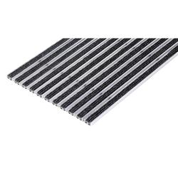 Reinigungsmatte, aluminium, pp-teppich