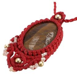 Guru-Shop Perlenkette Boho Makrameee Kette, Elfenschmuck -..