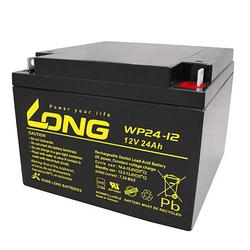 Kung Long WP24-12 Akku PB Blei 12 Volt mit 24Ah und M5 Flachpol Anschluss