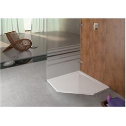 Hoesch Fünfeck-Duschwanne MUNA ultraflach 900 x 900 x 30 mm weiß