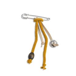 Knit Factory Modeschal Brosche Ocker 7