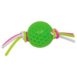 Nobby TPR Ball mit Silikonband grün, Maße: 7,5 cm