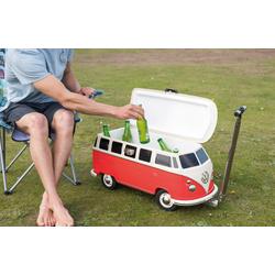 VW T1 Bus Fahrbare Kühlbox rot