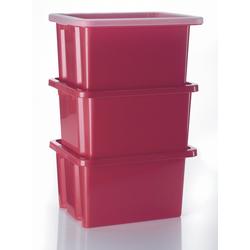Alpfa 3 Stapelboxen 42,5x33x23,5cm pink