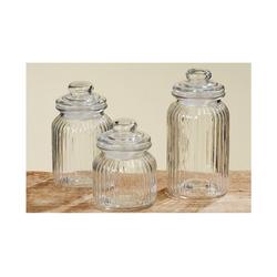 BOLTZE Vorratsdose 3er Set Bonbonglas Nostalgie Glas Behälter Vorratsdose, Glas, (3-tlg)