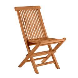 Balkonstühle aus Teak Massivholz klappbar (2er Set)