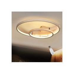 ZMH Deckenleuchte Deckenlampe dimmbar mit Fernbedienung Weiße Wohnzimmerlampe Eisen Kronleuchte Esszimmerlampe Schlafzimmerlampe Badezimmerlampe