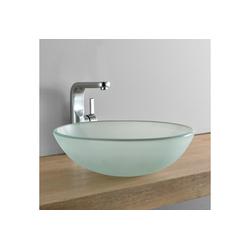 neu.haus Aufsatzwaschbecken, Bryne Waschbecken aus Glas rund