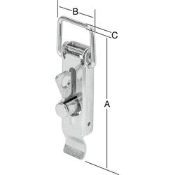 Vormann Kistenverschluss 110x37 mm verzinkt