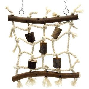 Tpmall Wellensittich ZubehöR VogelkäFig ZubehöR Papagei Spielzeug African Grey Papagei Spielzeug Papageienbarsch Vögel Spielzeug Wellensittich Spielzeug