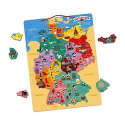 Janod Konturenpuzzle Magnetische Landkarte, 79 Puzzleteile