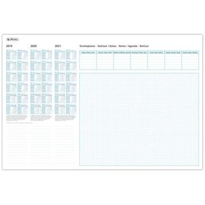 Herlitz 10621498 Schreibunterlage Papier mit Kalendarium 19/20/21, 50 Blatt, 59x40cm