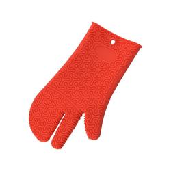 Kochblume Topfhandschuhe Silikon Handschuh, Hitzebeständig bis 230° rot