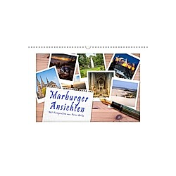 Marburger Ansichten (Wandkalender 2021 DIN A3 quer)