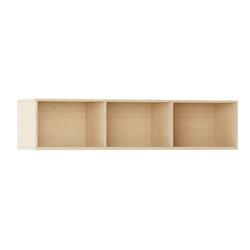 Bücherregal integro mit regalen, niedrig, buche