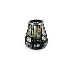 HTI-Living Windlicht Design-Windlicht Bambus/Metall Ø 26 cm x 26 cm x 29 cm