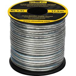 Sinuslive KL-1,5S Lautsprecherkabel 1 x 1.50mm² Silber 17.5m