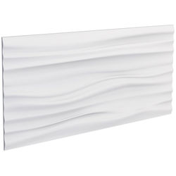 DECOFLAIR Set: 3D Wandpaneel Decoflair®Wandpaneele Ocean, 2er-Set, 78 x 38 cm weiß