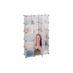 relaxdays Steckregal Regalsystem Kleiderschrank 11 Fächer wei�
