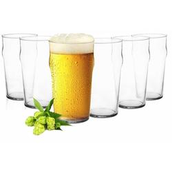 Sendez Bierglas 6 Pintgläser 0,5L Biergläser Bierglas Pilsgläser Pint Glas Trinkgläser Saftgläser