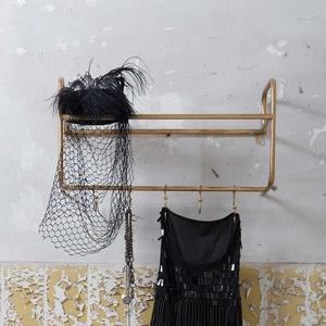 Hängegarderoben Set in Bronzefarben Vintage Design (2er Set)
