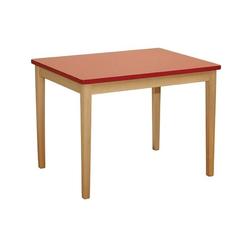 roba Kindertisch, für Kinder rot Holzspielzeug Kindertisch