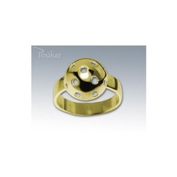 Ring floorball ball Gelb Gold, 56