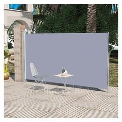 vidaXL Sonnenschirm Einziehbare Seitenmarkise 160 x 300 cm grau