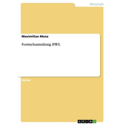 Formelsammlung BWL