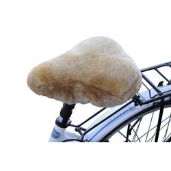 Fahrradsattelbezug Lammfell Touren braun