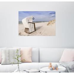 Posterlounge Wandbild, Strandkorb an der Ostsee 130 cm x 90 cm