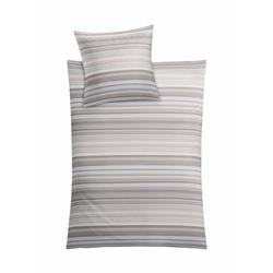 Bettwäsche Laine, Kleine Wolke, in verspielten Streifen grau