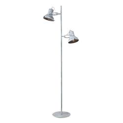 BOLTZE Wandleuchte Stehlampe FITCHBURG grau gewischt aus Metall Stehleuchte mit 2 Strahlern Hampton