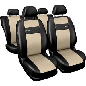 GSC Sitzbezüge Auto Komplett 5-Sitze Universal Autositzbezüge Schonbezüge Kunst Leder X-LINE, kompatibel mit Audi Q5