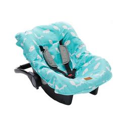 Fillikid Babyschale Sommerbezug für Babyschale, hellgrau blau