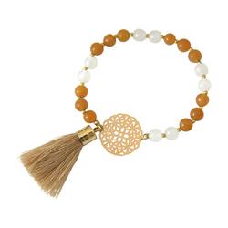 Gemshine Charm-Armband Jade Mala Mandala Armband, Made in Germany