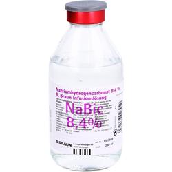 NATRIUMHYDROGENCARBONAT B.Braun 8,4% Glas 250 ml