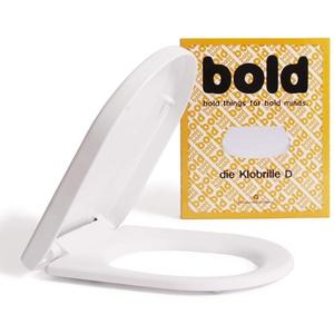Die Klobrille D WC Sitz weiß in D Form mit Absenkautomatik und abnehmbar. Toilettendeckel aus PP mit Softclose