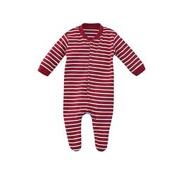 Schlafanzug Schlafanzüge Kinder rot/weiß Gr. 80  Kinder