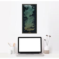 Posterlounge Wandbild, Karte von Westeros (englisch) 40 cm x 80 cm
