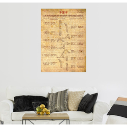 Posterlounge Wandbild, Sonnengruß – Yoga 50 cm x 70 cm